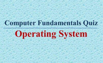 computer fundamentals quiz - operating system