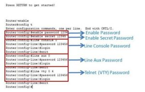 how to set password in router