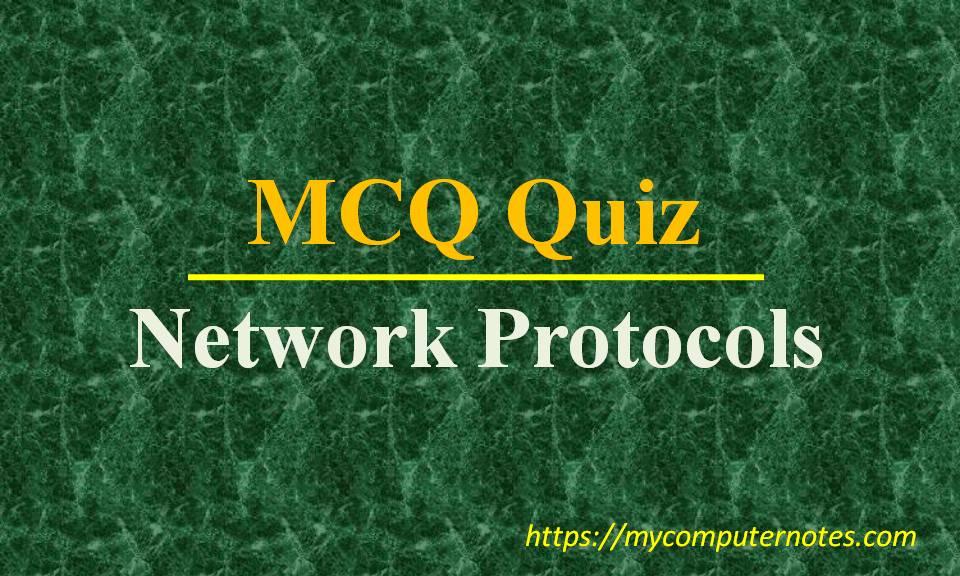 mcq quiz-network protocls