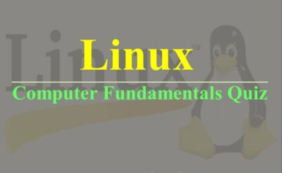 computer fundamantals quiz linux