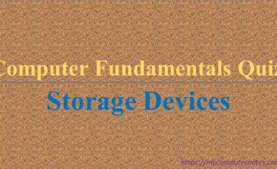 computer fundamentals quiz storage device