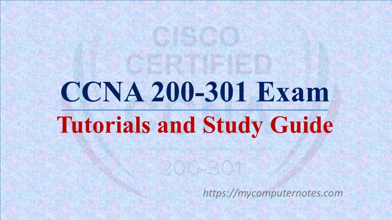 ccna 200-301 tutorials ans study guide