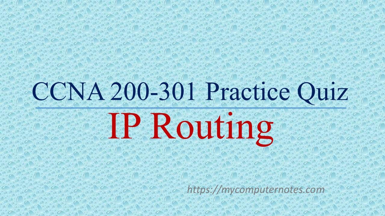 ccna practice quiz ip routing
