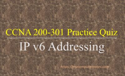 ccna practice quiz ip v6 addressing