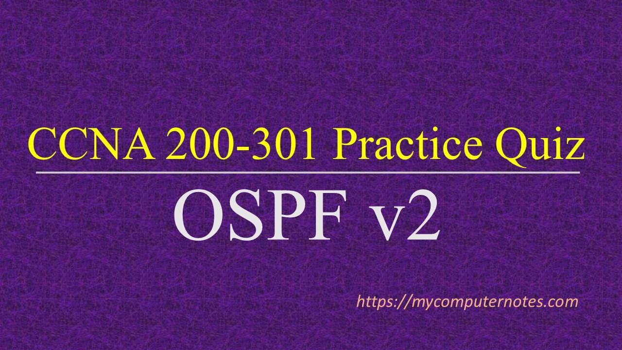 ccna practice quiz ospf v2